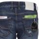 Jeans mit geradem Bein denim dunkel blau 005cohen