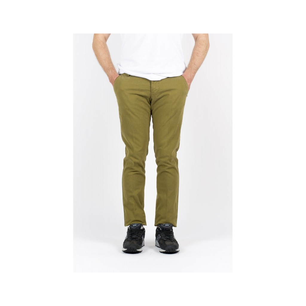 Pantalone Uomo - A15 8201Pantalone Tasca America Slim Con Fondo 16 cm 903 - Oliva 903 - Oliva
