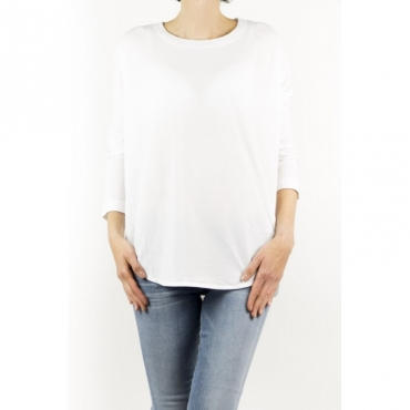 T-Shirt Donna - 851651 Zy429 Collo Smacchinato Ice Cotton Z0001 - bianco Z0001 - bianco