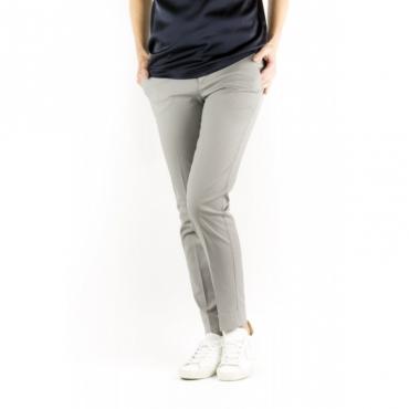 Pantalone Donna - VTNY Ts63 Piquet Cotone Strech 0220 - grigio 0220 - grigio