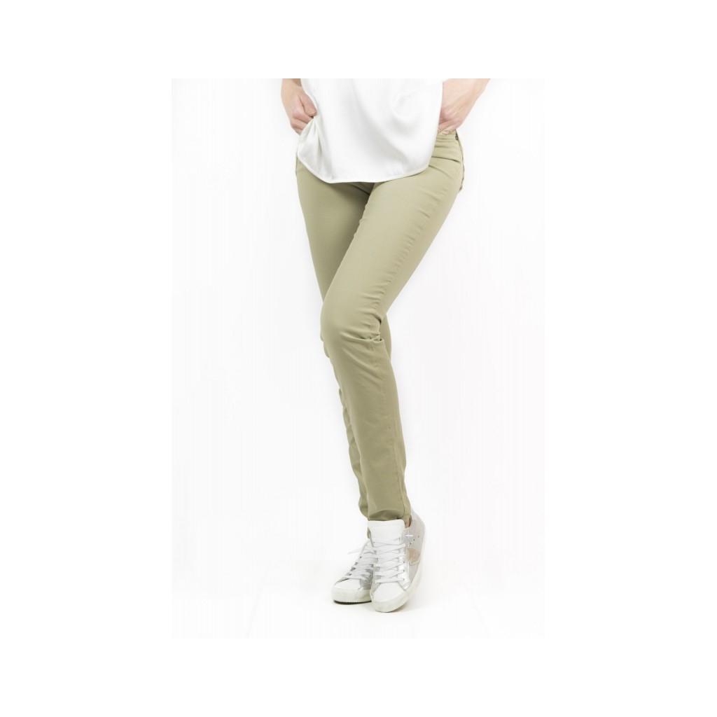 Pantalone Donna - Cate Gabardina Summer Strech 081 - kaky 081 - kaky