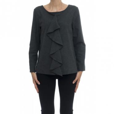 Camicia donna - Mia 95131 camicia flanella rouge 007 - Grigio melange 007 - Grigio melange