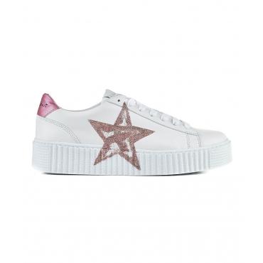 Sneaker in pelle white white