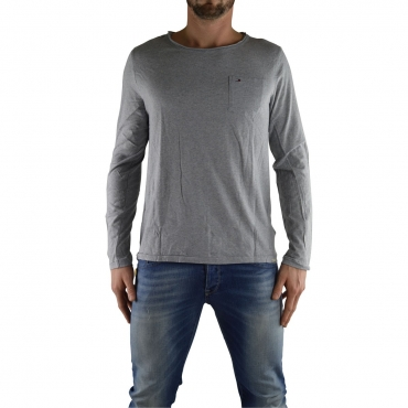 Tshirt Tommy Hilfiger Uomo Manical Lunga 073 LIGHT GREY 073 LIGHT GREY