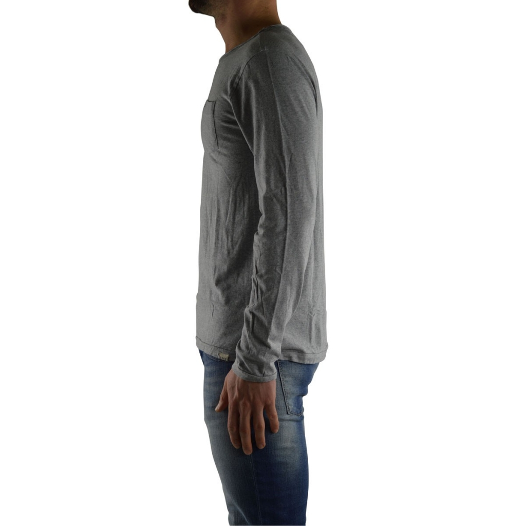 Tshirt Tommy Hilfiger Uomo Manical Lunga 073 LIGHT GREY 073 LIGHT GREY