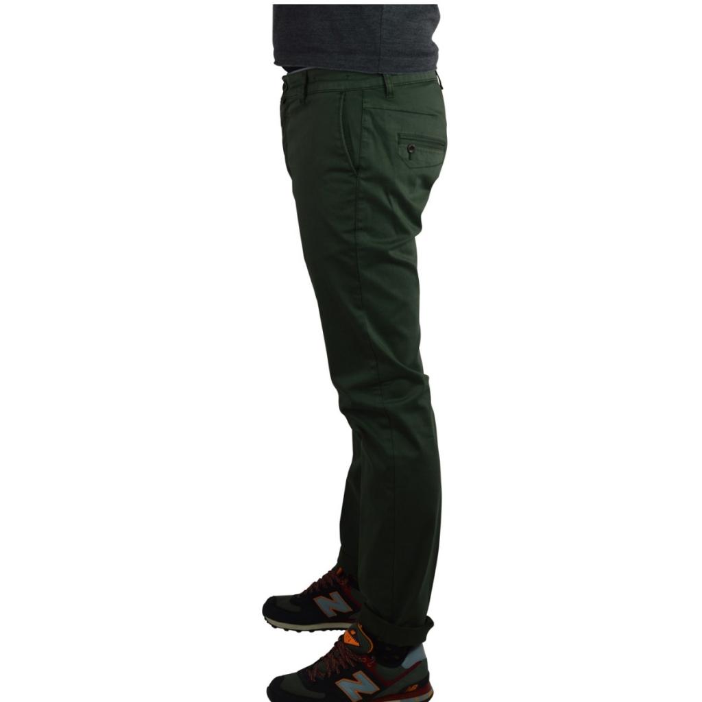 Pantalone Uomo Vicent Cotone Caldo Elasticizzato VERDE BOTTIGLIA VERDE BOTTIGLIA