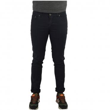 Pantalone Uomo Vicent Check Tasca Jeans FUMO FUMO