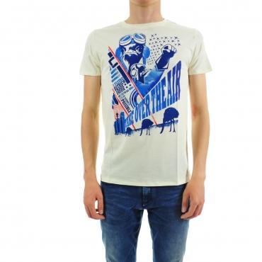 T-shirt Rebello Uomo 100% Bamboo 0016 CREMA STZ 0016 CREMA STZ