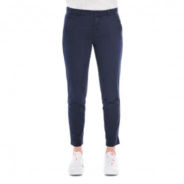 Pantalone Tommy Hilfiger Donna Chino 418 DRESS BLU 418 DRESS BLU
