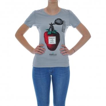 Tshirt Donna Rebello Bamboo Cotone Organico Tw01 FRA 0086 ARGENTO FRA 0086 ARGENTO