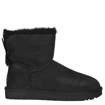 "Stivaletto UGG ""Mini Bailey Bow II"" BLACK BLACK"