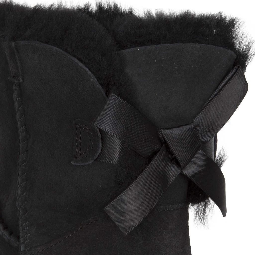 "Stivaletto UGG ""Mini Bailey Bow II"" BLACK BLACK"