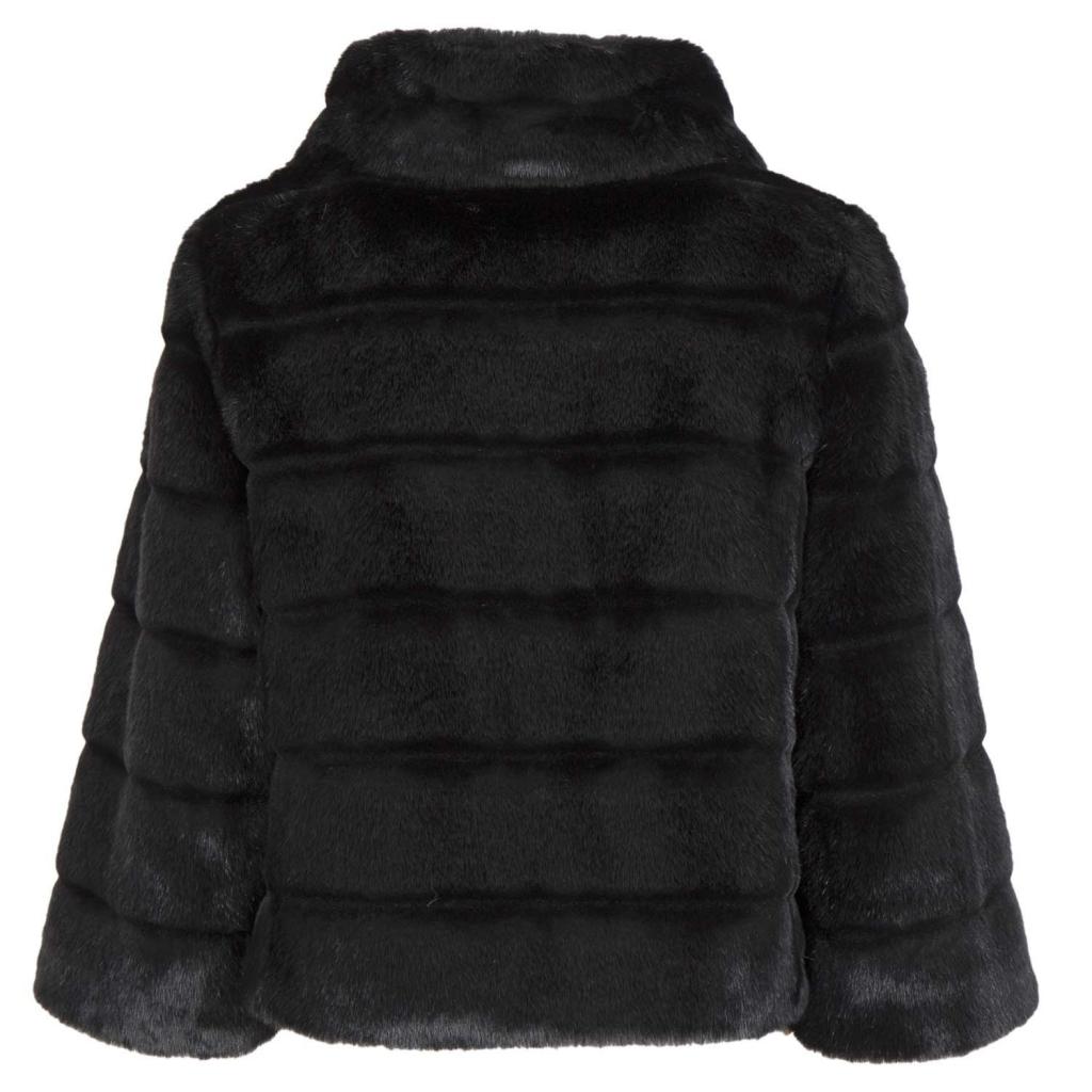 Cappottino corto eco pelliccia manica a 3/4 0700NERO 0700NERO