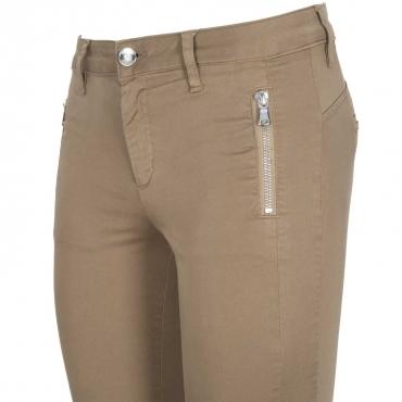 Pantalone Frida in raso stretch a vita alta 81022BAMBU' 81022BAMBU'