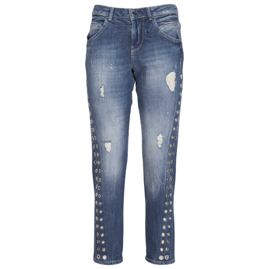 252dd06529 Vanille effect destroyed jeans with MOTEL INDIGO studs | Bowdoo.com