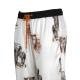 Pantaloni Phebe bianchi con disegni animali  ZC7MULTBIANC