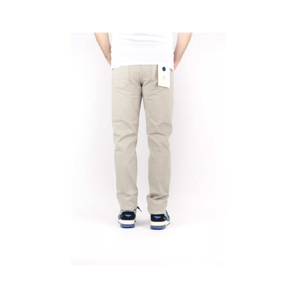 Jeans Uomo - C6P5K5 Jeans Bull Di Cotone 5 Tasche Slim 0040 - beige 0040 - beige