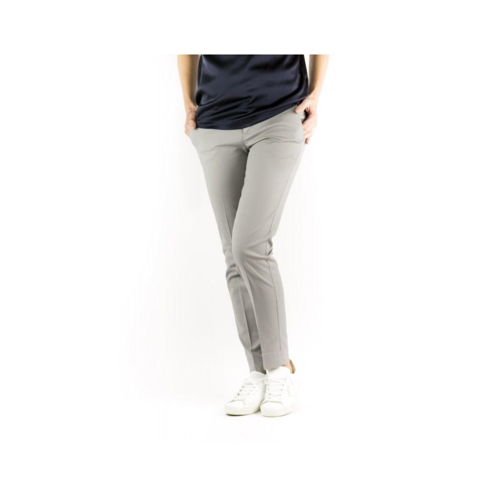 Pantalone Donna - VTNY Ts63 Piquet Cotone Strech 0350 - blu 0350 - blu