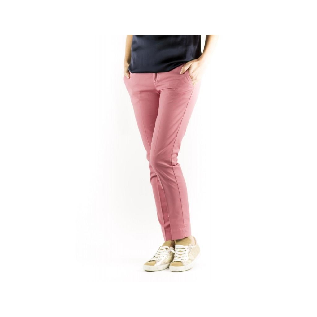 Pantalone Donna - VTNY Ts63 Piquet Cotone Strech 0615 - Cipria 0615 - Cipria