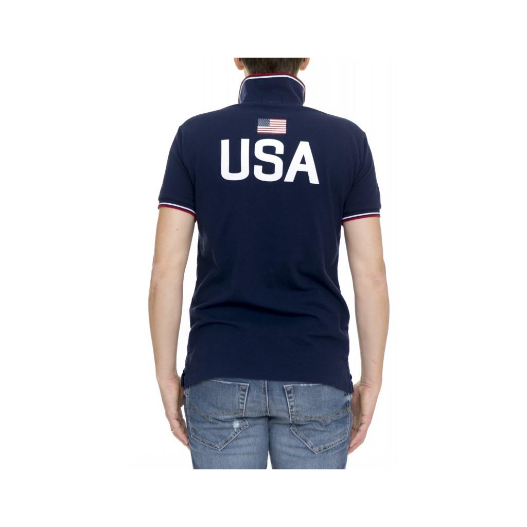Polo manica corta uomo - A12kbp83c8312 A4560 - USA A4560 - USA
