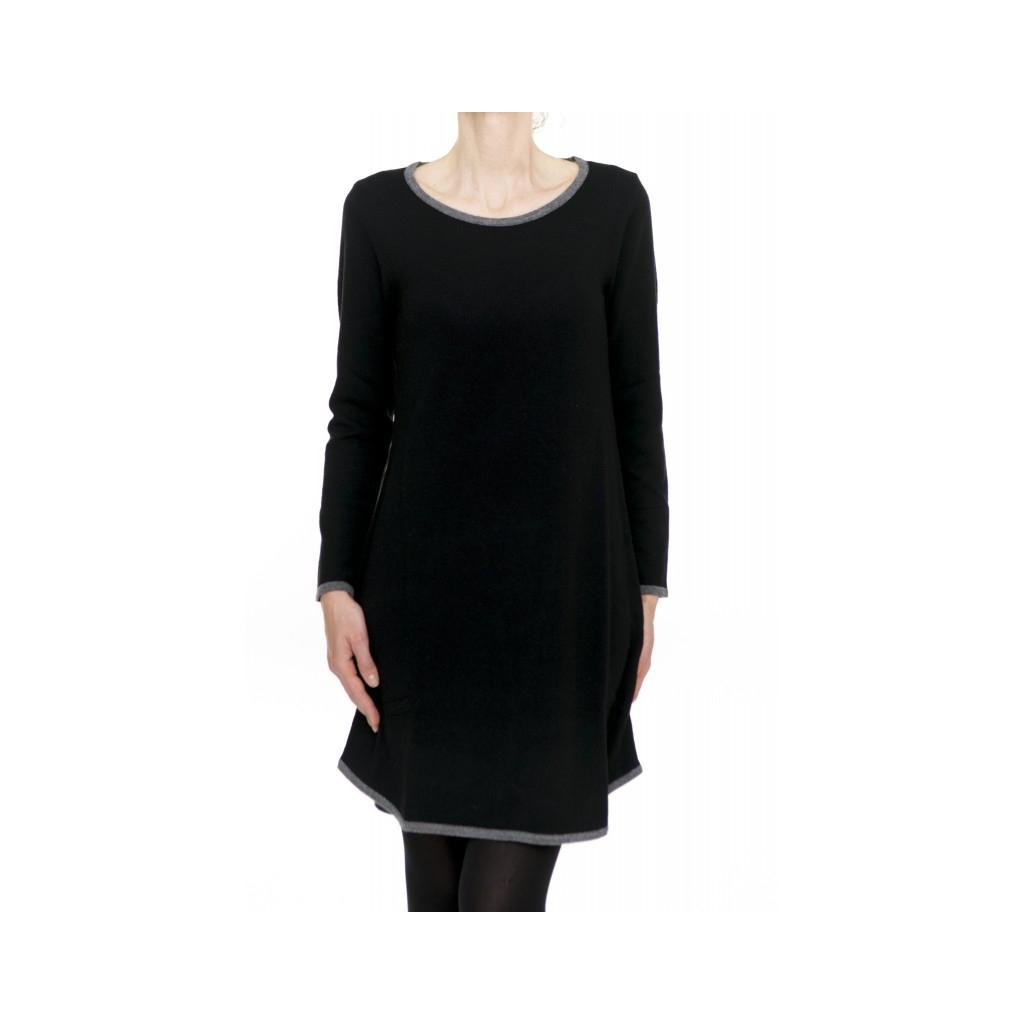Vestito corto donna - 2520/12 13 - Nero 13 - Nero