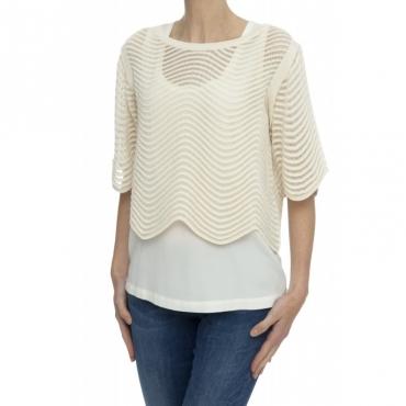 Maglieria - 1094 maglia cotone punta onde 1373 - Calce 1373 - Calce