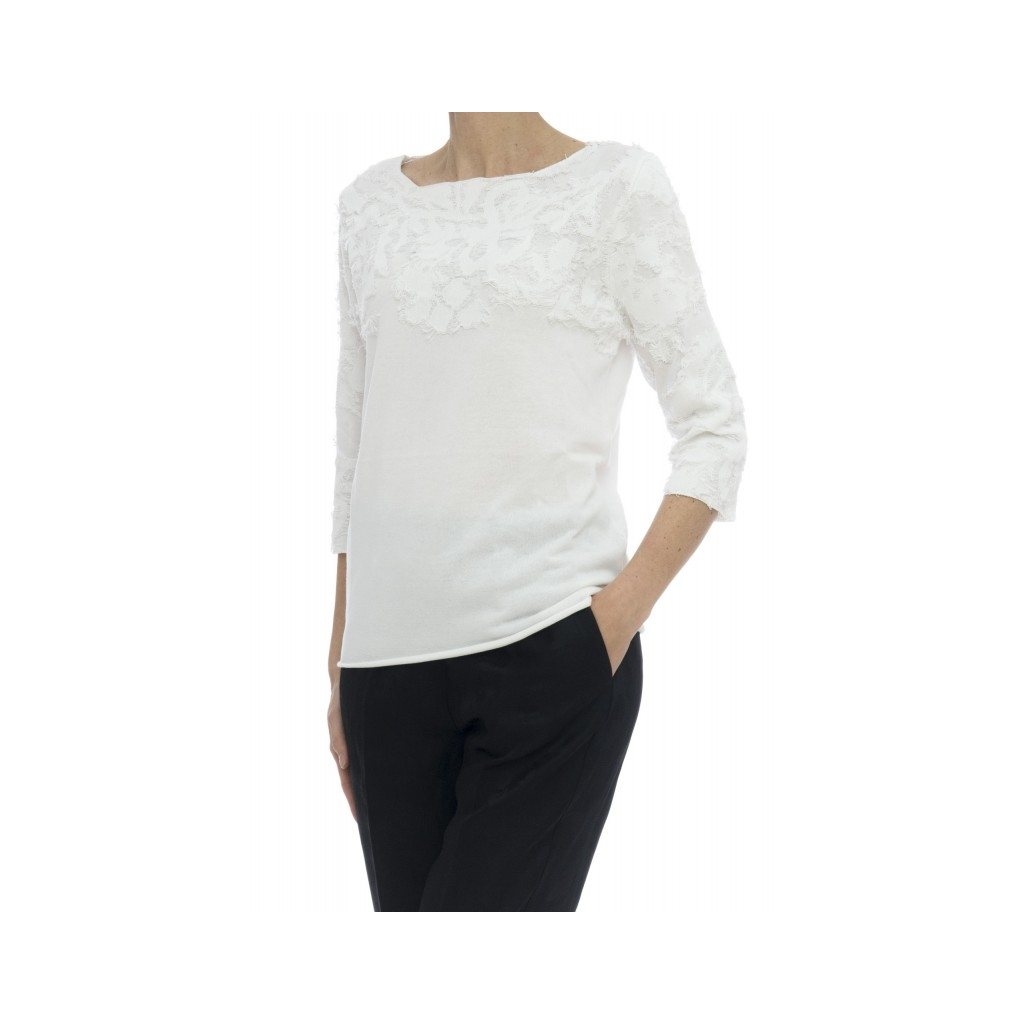 Maglia - 3515/13 maglia frange 01 - Bianco 01 - Bianco
