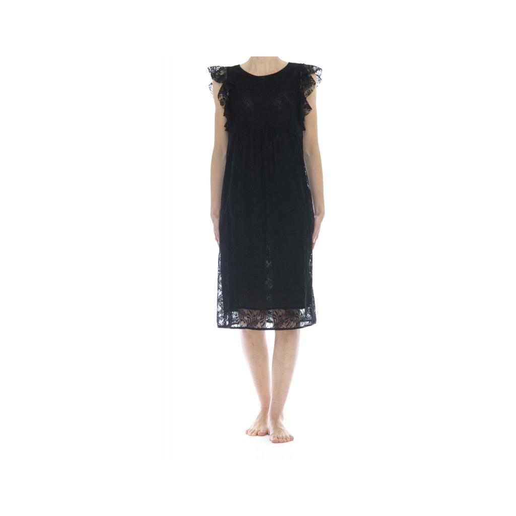 Vestito - 7025 vestito pizzo 003 - nero 003 - nero