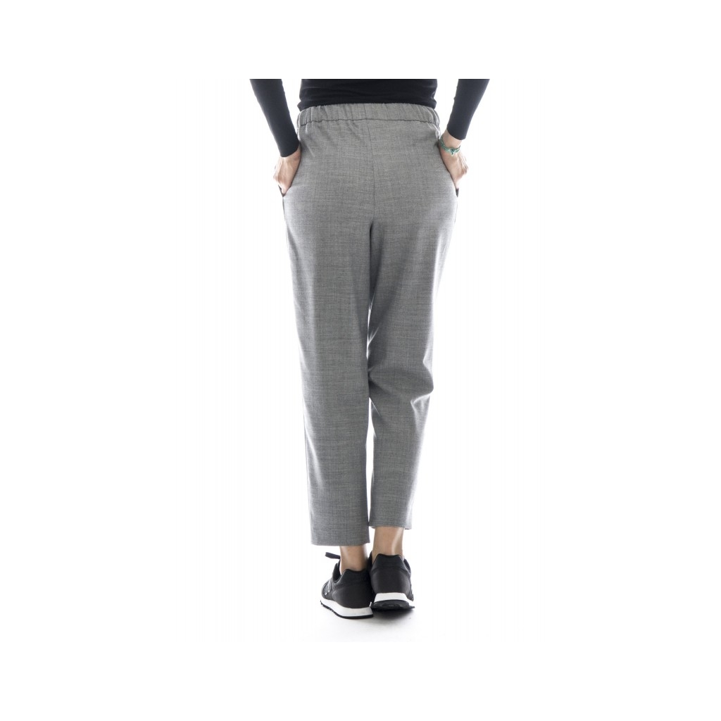 Pantalone donna - P2723 pantalone largo flanella 06 - grigio 06 - grigio