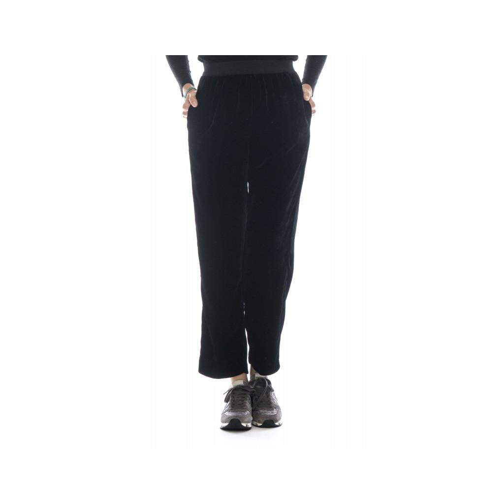 Pantalone donna - J4025 pantalone velluto 003 - nero 003 - nero