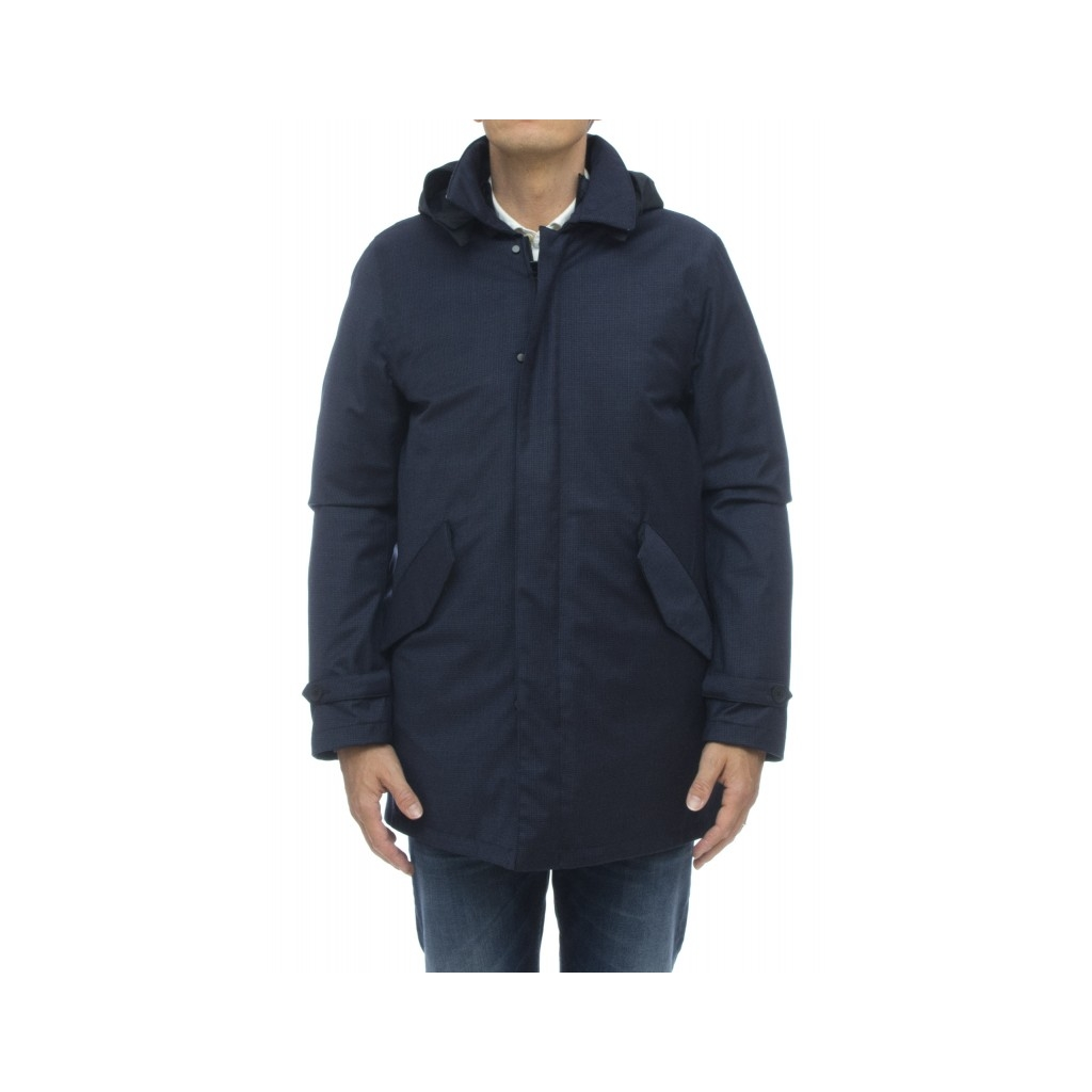 Down jacket - Hachiko pw1024 piedipool wool trench 790 - Blue
