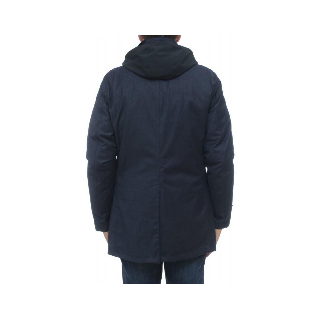 Piumino - Hachiko pw1024 piedipool lana trench 790 - Blu 790 - Blu
