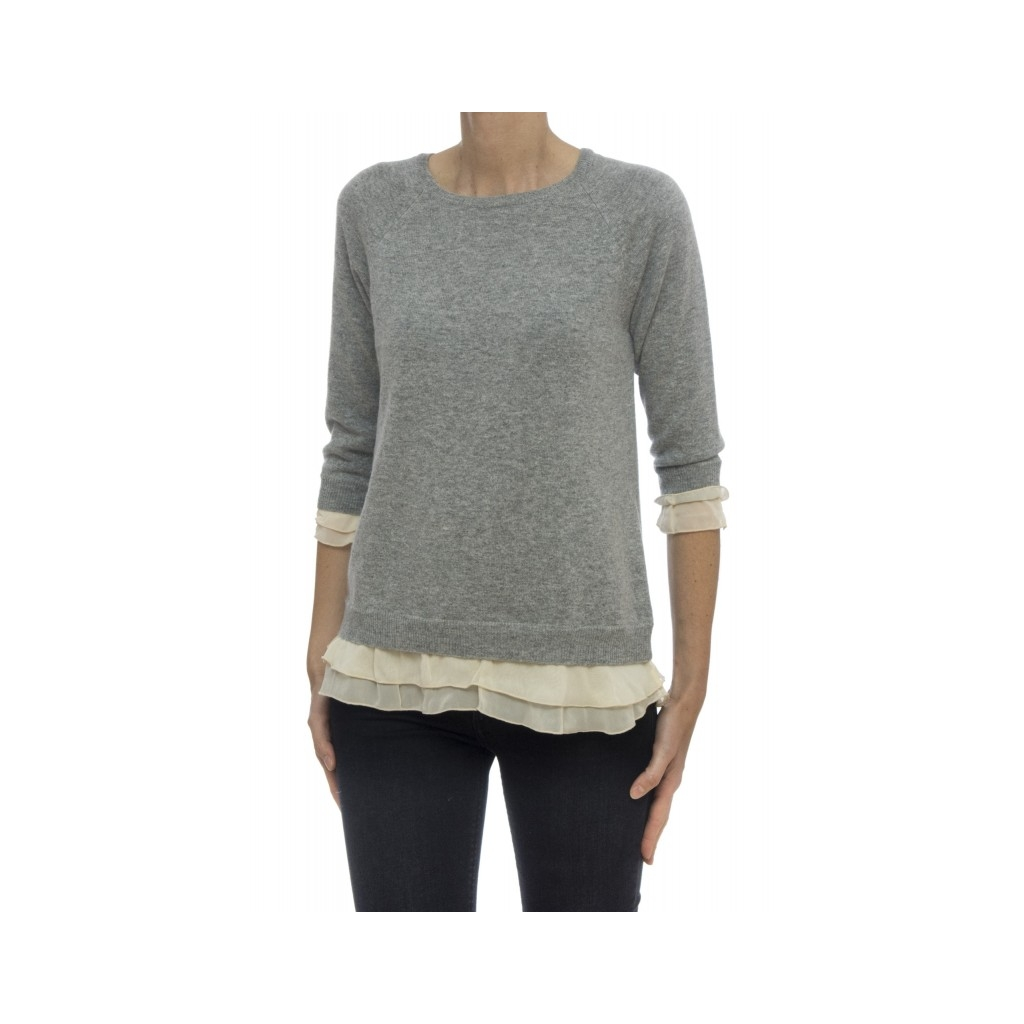 Women's sweater - J1312 007 - Melange gray