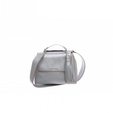 Borsa - BO1999 silver color in pelle con tracolla e charms Arancio Arancio
