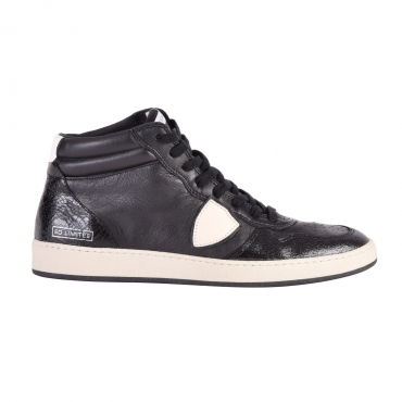 SNEAKER LAKERS HIGH LEATHER BLACK / WHITE PHILIPPE MODEL NERO