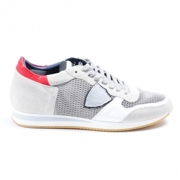 SNEAKER TROPEZ SPORTS GRAY \ SILVER PHILIPPE MODEL GRIGIO