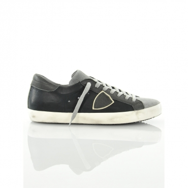 PHILIPPE MODEL SNEAKER CLASSIC LOW NERA MIXAGE NERO NERO