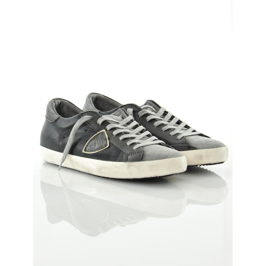 philippe model sneaker classic low nera mixage nero. Black Bedroom Furniture Sets. Home Design Ideas
