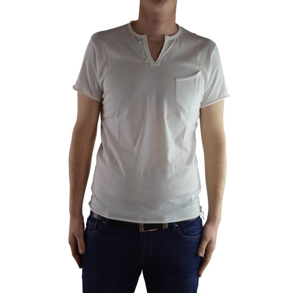 Tshirt Uomo Wise Guy Cotone Taschino Serafino 01 PANNA 01 PANNA