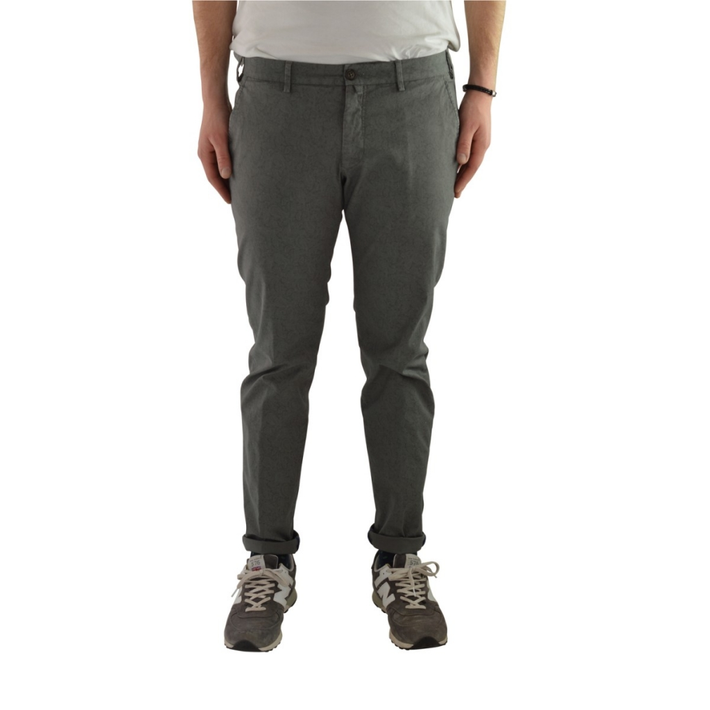 Trousers Verdera Man Superslim Fantasy Stretch 12 GRAY