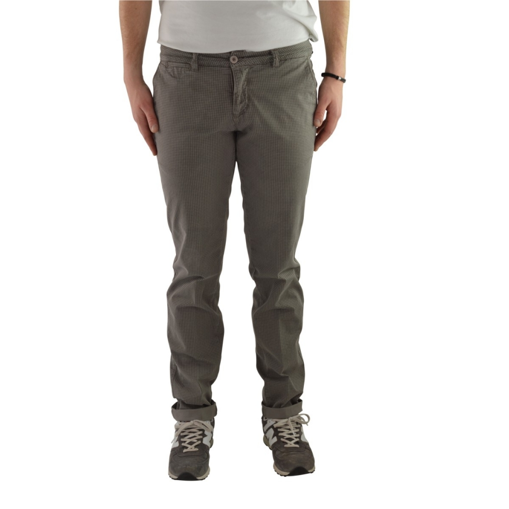 Pantalone Vincent Cotton Men festes Bein 136 BEIGE