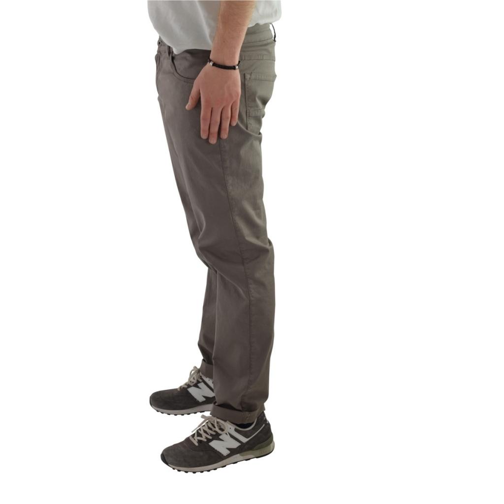 Pantalone Vincent Uomo Cotone Gamba Stretta Tinta U 136 BEIGE 136 BEIGE