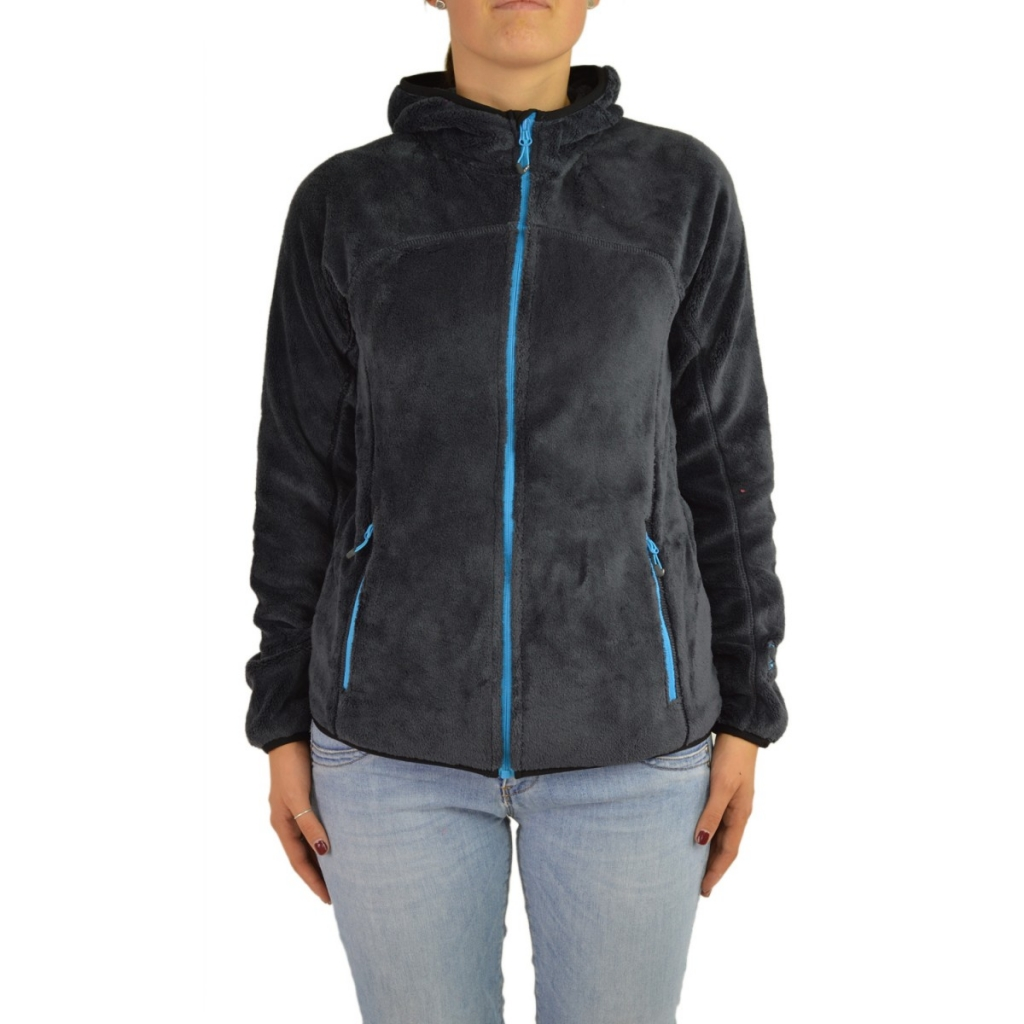 Fleece Cmp Curl Woman Hood 614P ANTHRACITE