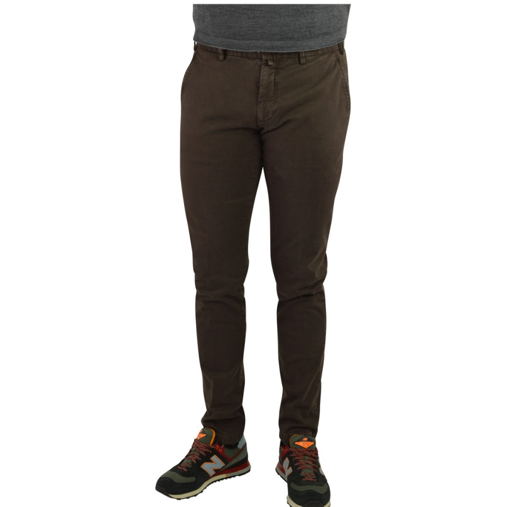 Men's Verdera Pants Aged Fabric Pocket Amer 10 BROWN