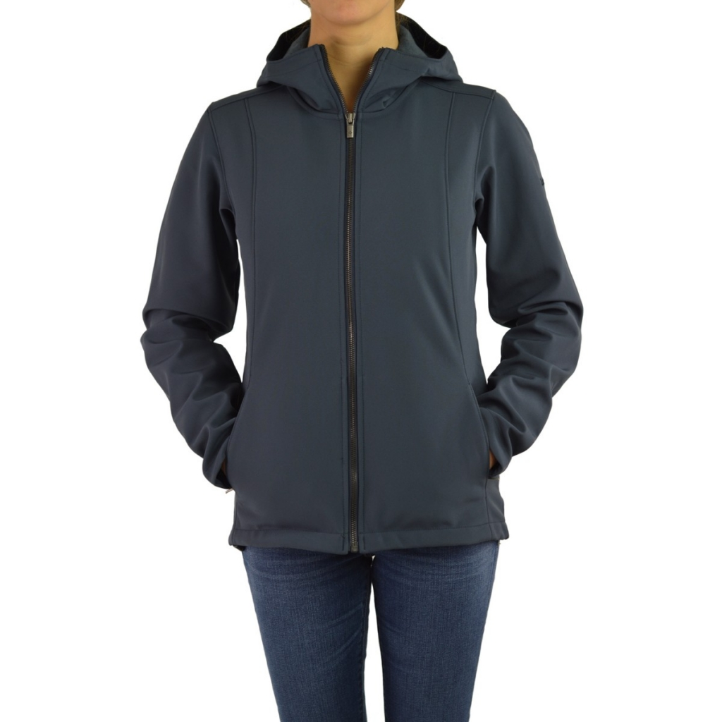 Columbia Jacket Woman Softshell Hood 419 INDIA INK