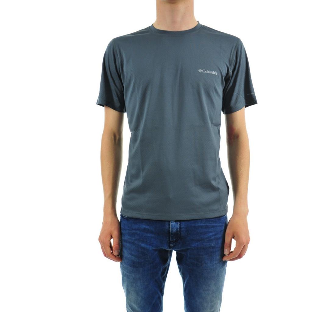 40a5523114c T-shirt Columbia Man Omni Technical Freeze 053 GRAPHITE | Bowdoo.com