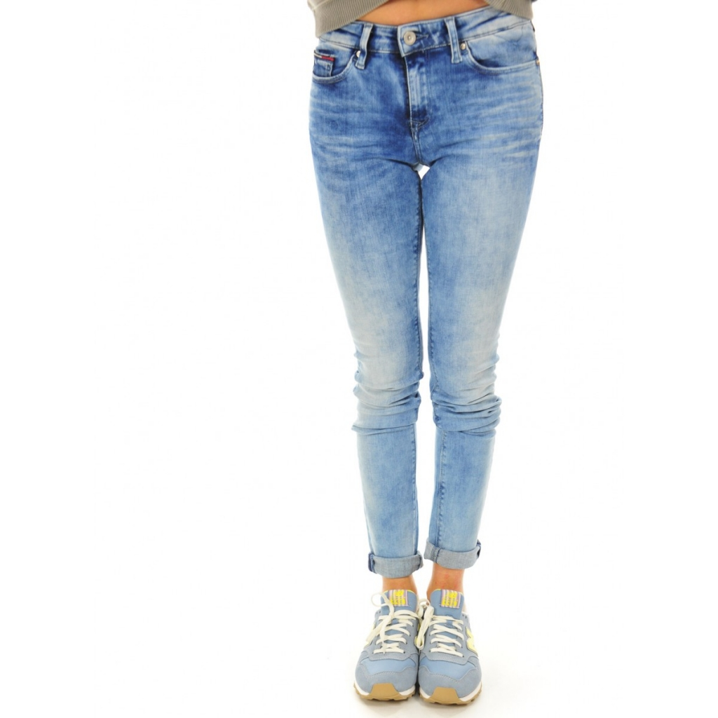 Jeans Donna Tommy Hilfiger Super Stretch Vita Media 641 DYNAMICLIGHT 641 DYNAMICLIGHT