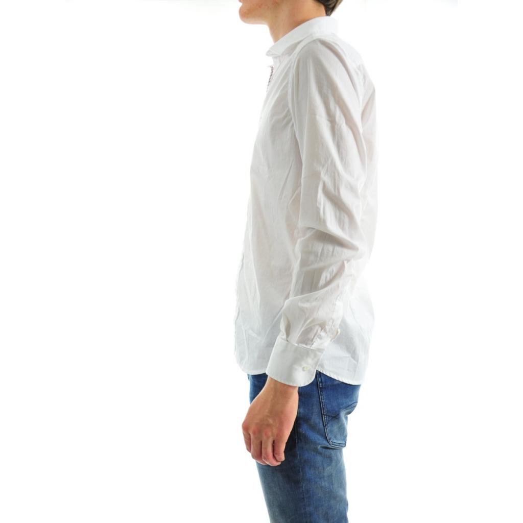 Camicia Uomo Etichetta 35 Stretch 105 BIANCO 105 BIANCO