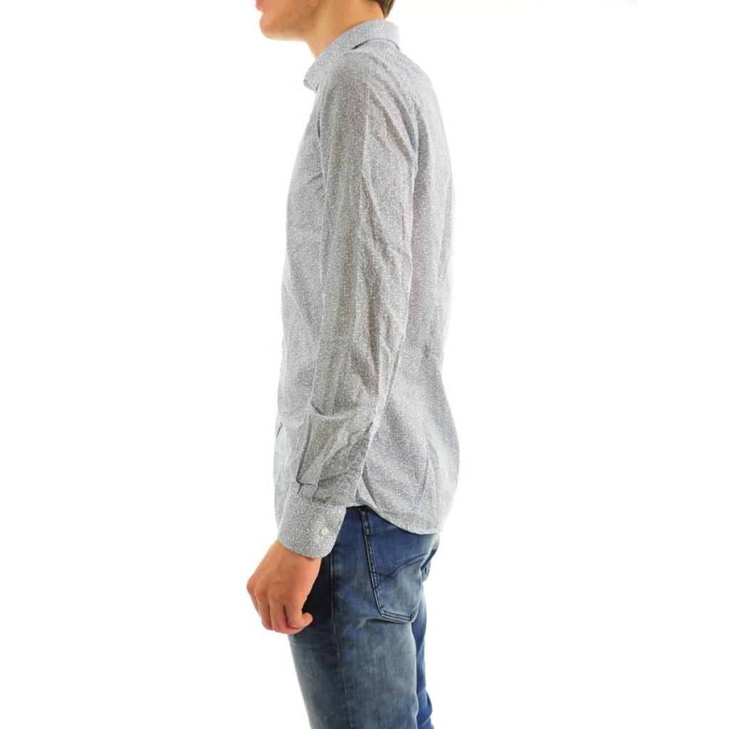 Camicia Uomo Etichetta 35 295 BLU 295 BLU