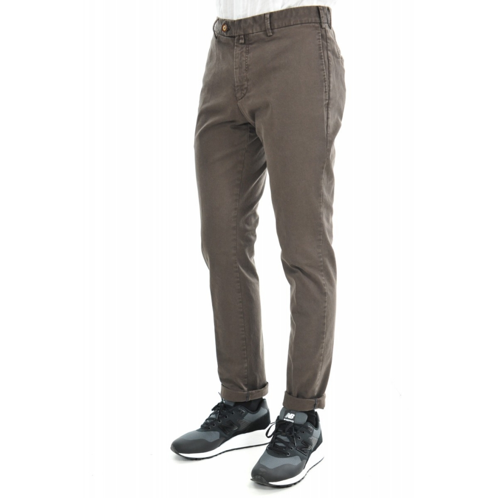 Pantalone Verdera Uomo Gabardina Tasca America 11 MARRONE 11 MARRONE